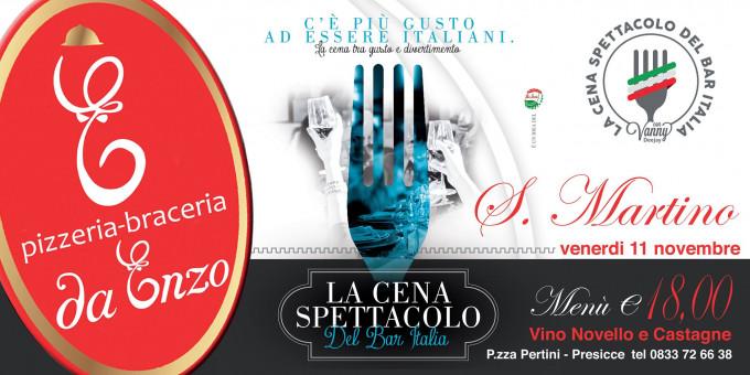 San Martino da con la cena spettacolo- da Enzo Presicce